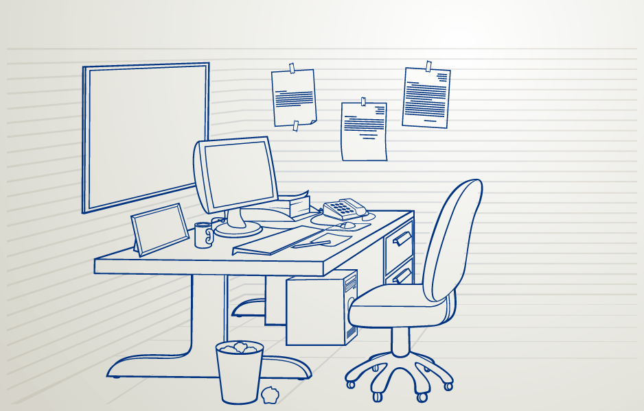 Drawing Lines In Office : The office work environment