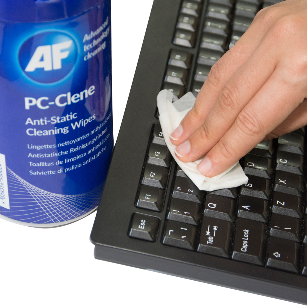 Pc Clene Anti Static Cleaning Wipes For Pc Surfaces Af